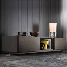 connors sideboard designed by rodolfo dordoni minotti orange skin