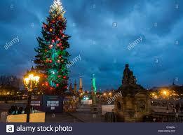 paris france street scenes christmas tree decorations on place