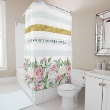 Pink Flower Shower Curtain Chic Shower Curtains Personalized For Women And Girls Oh So