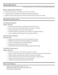 sample resume for restaurant restaurant manager sample resume