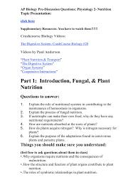 ap biology physiology 2
