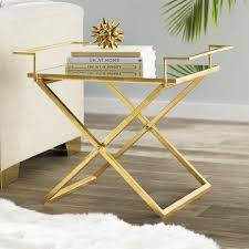 tray top end table frame mirrored tray end table
