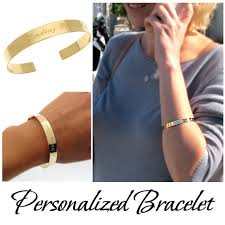 personalized bangle bracelet gold bangle bracelet with message personalized cuff bracelet