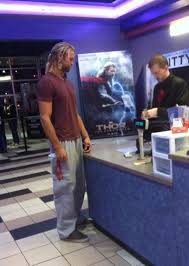 today i saw thor buying a ticket for thor the meta picture