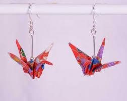 origami earrings origami earrings etsy