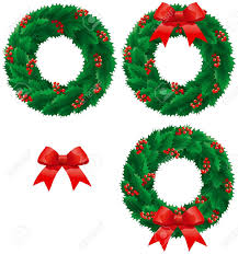 christmas holly wreath clipart collection