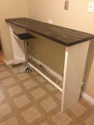bar height work table long narrow counter height table miketechguy com