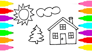how to draw coloring pages how to draw house coloring pages for children learn drawing