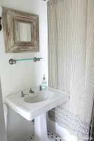 Ruffle Shower Curtain Uk - ticking stripe curtains u2013 teawing co