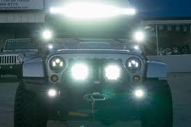 led light bar jeep wrangler rigid industries 50 e series led light bar