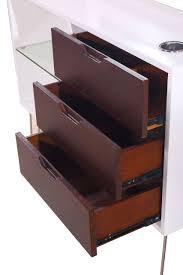 White Wood Desk Organizer by Dilling St 468 Ss W Mcm Kaemerk White U0026 Rustic Mid Century Modern