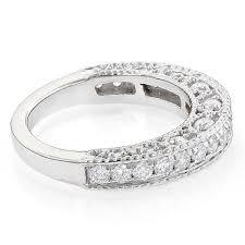 milgrain wedding band milgrain filigree designer wedding band for 1 carat