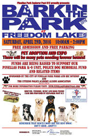 pinellas park bark in the park freedom lake park pet adoption