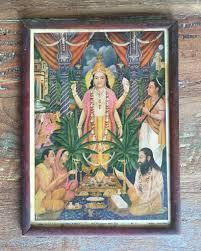 House And Home Decor Sri Satyanarayan Maha Puja In A Vintage Frame Shop Nectar
