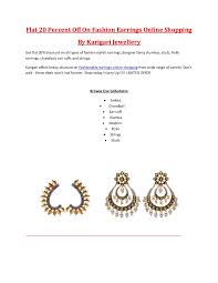 karigari earrings flat 20 on fashion earrings designer jhumkas artificial