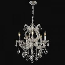 Maria Theresa 6 Light Crystal Chandelier Hollywood Glam Luxurious Crystal Chandeliers U0026 More