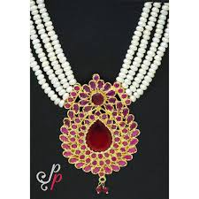 pearl ruby necklace images Pearl necklace sets rani haar in real pearls and semi precious jpg