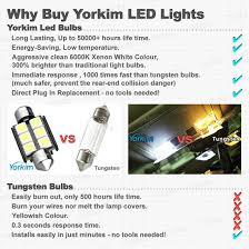 Led Light Bulbs Vs Energy Saving by Amazon Com De3175 Led Light Bulb Yorkim 4pcs White Error Free