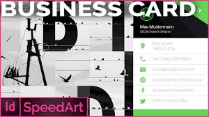 speed art indesign business card in material flat design youtube