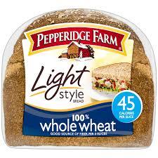 pepperidge farm light bread pepperidge farm light style 100 whole wheat bread 16 oz bag