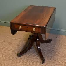Antique Drop Leaf Dining Table Regency Figured Mahogany Antique Drop Leaf Dining Table C