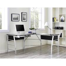 Glass Top L Shaped Computer Desk Altra Furniture Wingate Glass Top Cherry L Shape Desk 9105296com