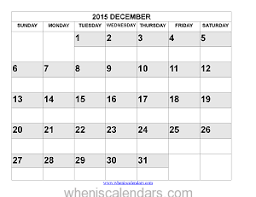 december 2015 calendar printable template word pdf image