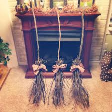 diy witches broom halloween decorations halloween pinterest