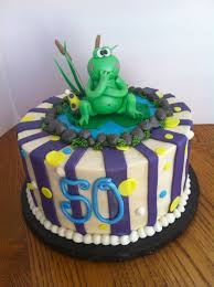 sweet frog 50th birthday cake