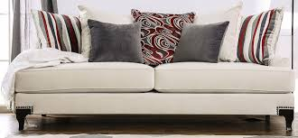 Sofa King Doncaster by Viscontti Ivory Upholstered Sofa From Furniture Of America