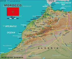 Morocco Map Africa by Map Of Morocco Map In The Atlas Of The World World Atlas
