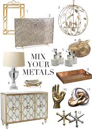 Silver And Gold Bathroom Faucets Mixing Metals The Do U0027s And Don U0027ts