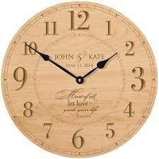 personalized anniversary clocks personalized wedding or anniversary clock most of all let