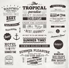 summer holidays label ornaments and logos vector 04 welovesolo
