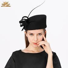 haarschmuck hochzeit blume klassische schwarz bowknot blume feder fascinator haarschmuck