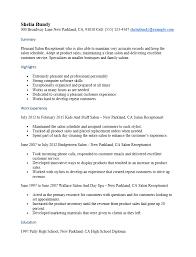 Receptionist Resume Template Front Desk Receptionist Resume Sle Spa Resume Sles Salon