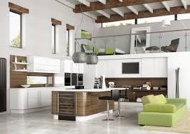 minimalist kitchen design with small kitchen island and white