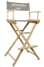 Tall Director Chairs Directors U0026 Makeup Chairs Personalised Or Plain Bulk Quantity