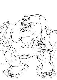 incredible hulk coloring pages photos hulk