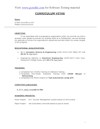 Resume Sle by Resume Format For Software Testing Fresher Resume For Study