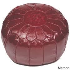 Ottoman Morocco Handmade Moroccan Leather Pouf Ottoman Morocco Brown Size