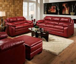 Acme Modern Burgundy Leather Tufted Sofa Couch Loveseat Living - Red leather living room set