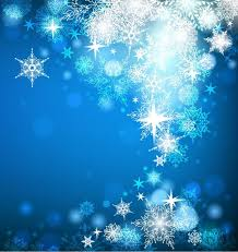 christmas card with snowflakes on blue background free vector