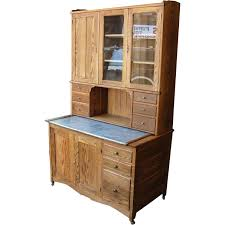2 Piece China Cabinet Antique 2 Piece Oak Kitchen Cabinet Or Bakers Cupboard Sold On