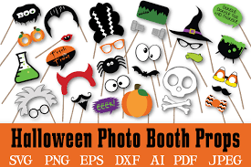 halloween photo booth props svg cut file by shannon keyser