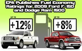 dodge ram gas mileage pickuptrucks com epa publishes gas mileage ratings for 2009 ford