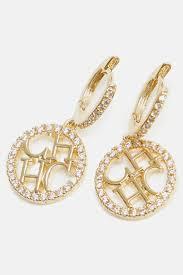 ch earrings earrings ch carolina herrera earrings ch carolina herrera