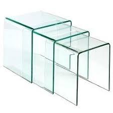 Glass Waterfall Coffee Table Glass Top Display Coffee Table Uk Waterfall Nesting Side Tables