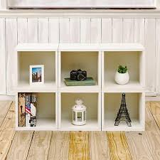 Bookcase Clips Storage Cubes In White Finish And Stackable Cubby Bookcase Way