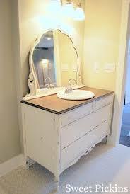 Old Dresser Bathroom Vanity Dresser Turned Bathroom Vanity And Bathroom Sneak Peak Diy Diy